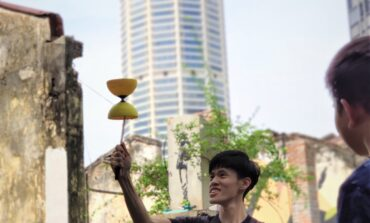 HCUC student Khooney Tan cannot be separated from diabolo