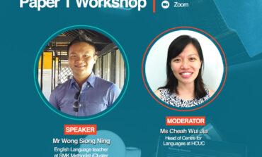 HCUC Organises SPM English Paper 1 Workshop